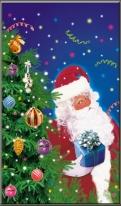"""Пакет мет./рис. 100 шт.  """"Дед Мороз и елка"""" 30х50 см"""
