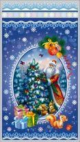 """Пакет мет./рис. 100 шт.  """"Дед Мороз и снегири"""" 20х35 см"""