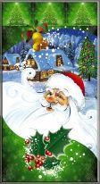 "Пакет мет./рис. 100 шт.  ""Дед Мороз в Лесу"" 20х35 см"
