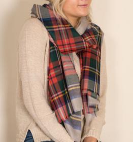 """шотландский тонкорунный легкий широкий палантин (шарф) Альба, 100% шерсть- тонкая нить мулине , расцветка  Королевский клан Стюарт- Парадный. """"ALBA STEWART DRESS GREY """" плотность 2"""