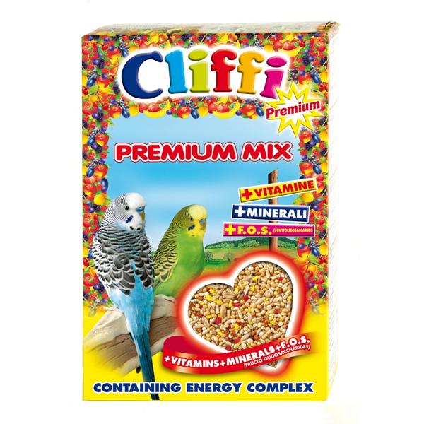Корм Cliffi Premium Mix Budgerigars для волнистых попугаев 800гр