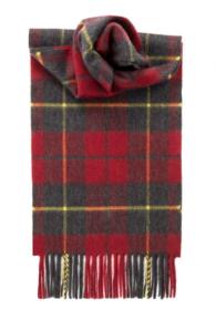 кашемировый шарф (100% драгоценный кашемир) , расцветка  клана Уоллес- Храброе Сердце WALLACE MODERN TARTAN LUXURY CASHMERE , плотность 7