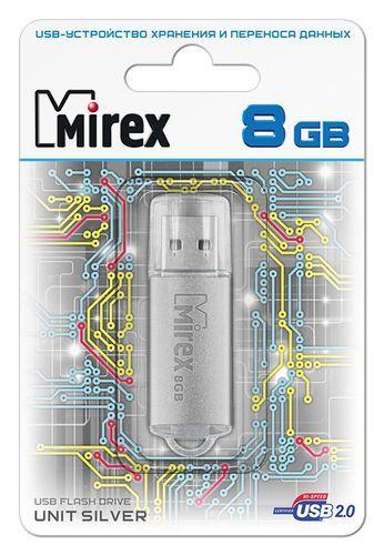 USB накопитель  8 ГБ  Mirex UNIT SILVER