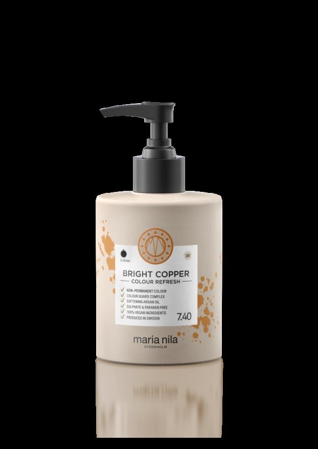 Тонирующая питательная маска для волос Bright Copper 7.40 (ярко-медный) Maria Nila  300 мл
