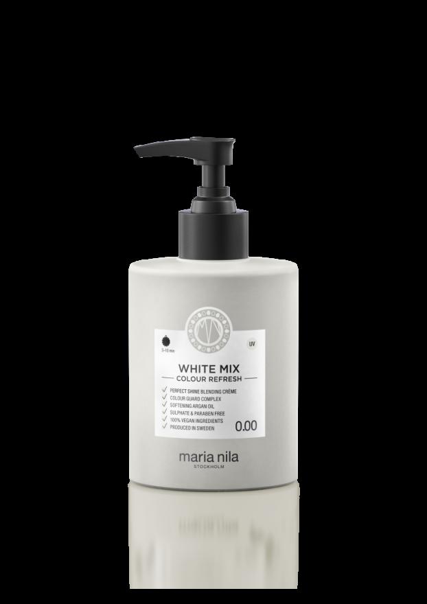 Тонирующая питательная маска для волос WHITE MIX 0.00 (белый для смешивания) Maria Nila  300 мл