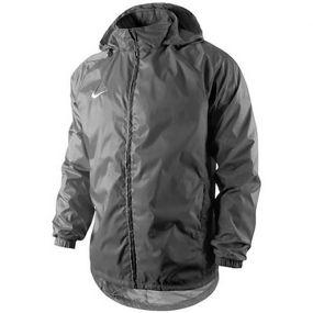 Детская ветровка Nike Foundation 12 Rain Jacket With Hood Waterproof With Zip Junior тёмно-серая
