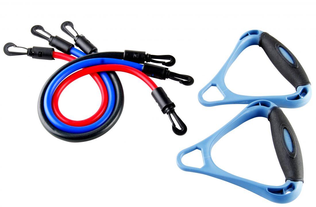 Эспандер плечевой INDIGO набор 3 жгута 12102 HKAS
