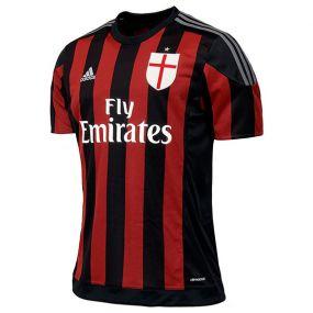 Детская футболка adidas AC Milan Home Jersey Young чёрная