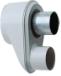 Адаптер для перехода с раздельных труб диам. 80 мм на коаксиальную диам. 125/80 мм, HT   KHG 71409381