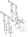 Гидравлический комплект для двух котлов в каскаде KB2 для котлов POWER HT 1.280-1.320   LXO 692649