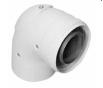 Инспектируемый коаксиальный отвод 90°, диам. 60/100 мм  KHG 71410411