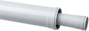 Коаксиальное удлинение полипропиленовое, диам. 80/125 мм, длина 1000 мм, HT  KHG 71408851