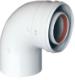 Коаксиальный отвод 90°, без муфты, диам. 60/100 мм  KHG 714101510