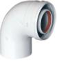 Коаксиальный отвод 90°, диам. 80/125 мм KHG 71414051