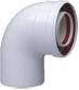 Коаксиальный отвод полипропиленовый 87°, диам. 60/100 мм, HT  KHG 71405971