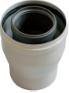 Коаксиальный переходник с диаметра 80/125 мм на диаметр 60/100 мм, HT   KHG 71409391