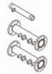 Комплект труб подачи и обратки  с газовой трубой для одного котла  7105846