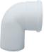 Отвод 90° алюминиевый эмалированный,  диам. 80 мм 0080-000090 STOUT