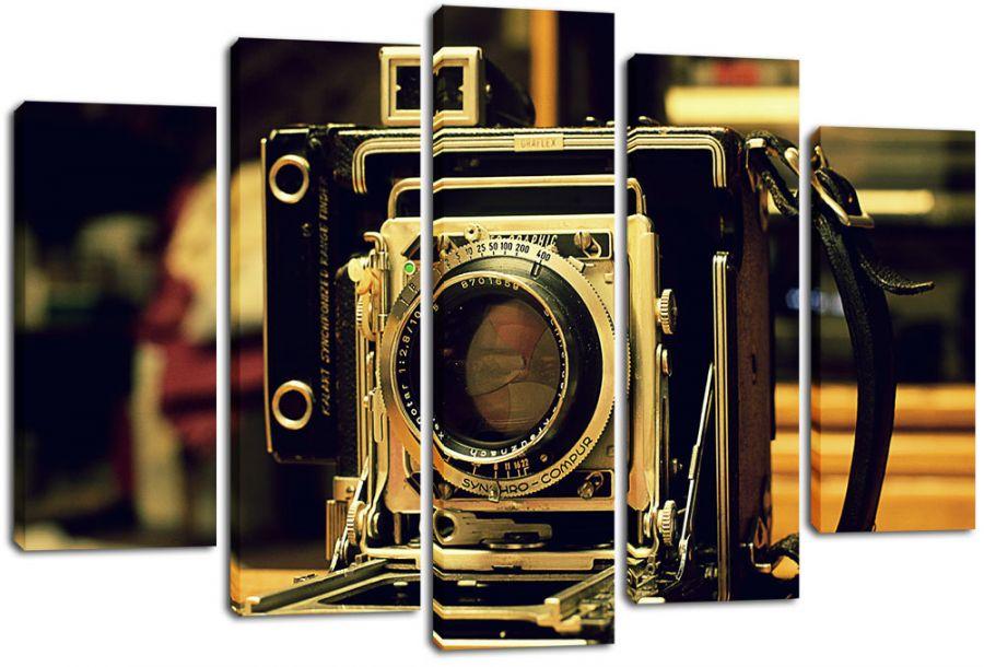 Модульная картина Старинный фотоаппарат