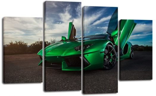 Модульная картина Зеленый суперкар