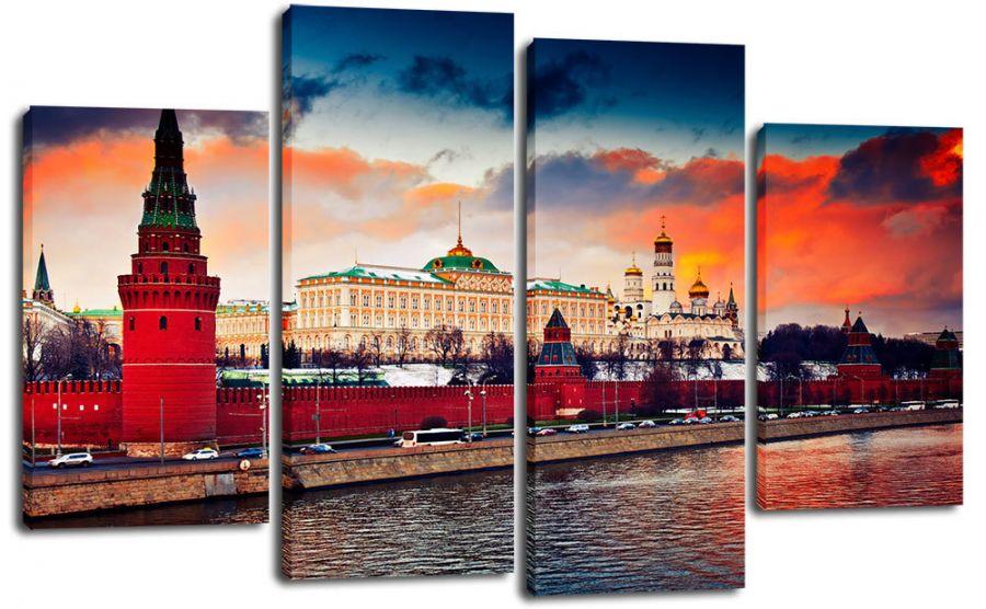 Модульная картина Набережная кремля