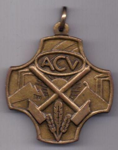 Медаль 1920 г. AUNC Конфедерация христианских профсоюзов
