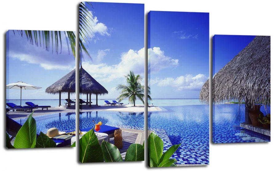 Модульная картина Райский курорт