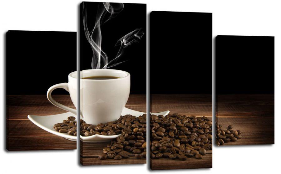 Модульная картина Кофе и зерна