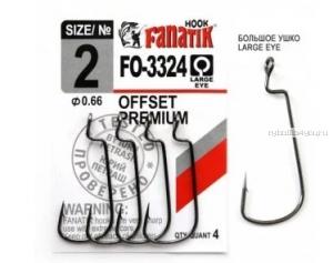Офсетные крючки с увеличенным ушком Fanatik FO-3324(упаковка)