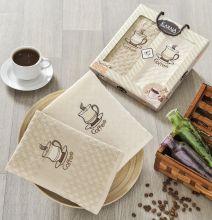 "Комплект салфеток  вафельных ""KARNA"" AFFAGATO COFFEE  45x65 - 2 шт.  Арт.2443-3"