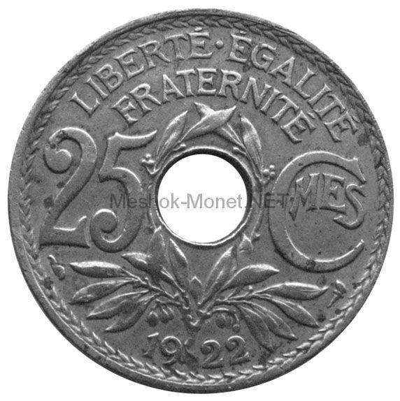 Франция 25 сентим 1921 г.