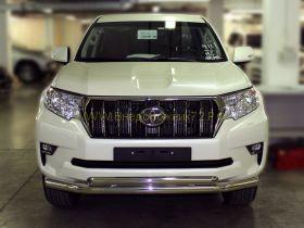 Защита переднего бампера 76х60 мм для Toyota Land Cruiser Prado 150 2017 -