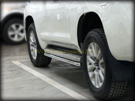 Защита штатного порога 53 мм для Toyota LandCruiser Prado 150 2017 -