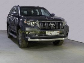 Защита переднего бампера 75х42 мм для Toyota Land Cruiser Prado 150 2017 -