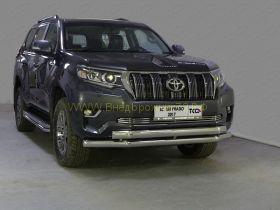 Защита переднего бампера 76х75 мм для Toyota Land Cruiser Prado 150 2017 -