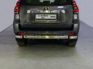 Защита заднего бампера центральная 75х42 мм для Toyota Land Cruiser Prado 150 2017 -