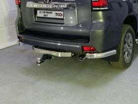 Защита заднего бампера уголки 76,1 мм для Toyota Land Cruiser Prado 150 2017 -