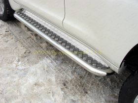 Пороги 60,3 мм для Toyota LandCruiser Prado 150 2017 -