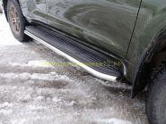 Защита штатного порога 60,3 мм для Toyota LandCruiser Prado 150 2017 -