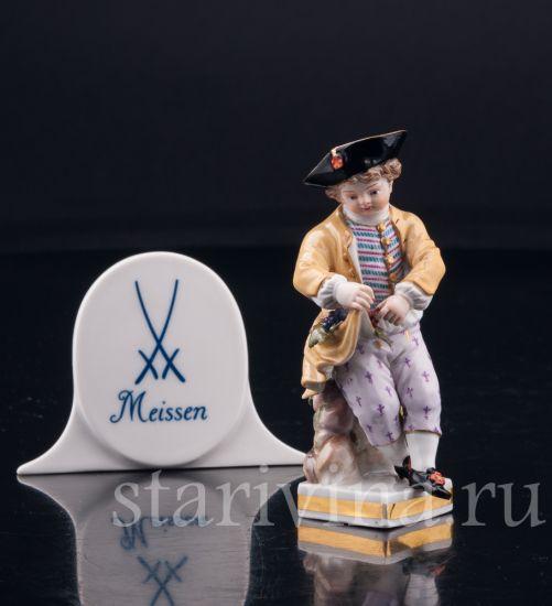 Изображение Мальчик с виноградной гроздью, миниатюра, Meissen, Германия, 19 в