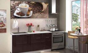 Кухонный гарнитур с фотопечатью «Кофе» 1,6 м