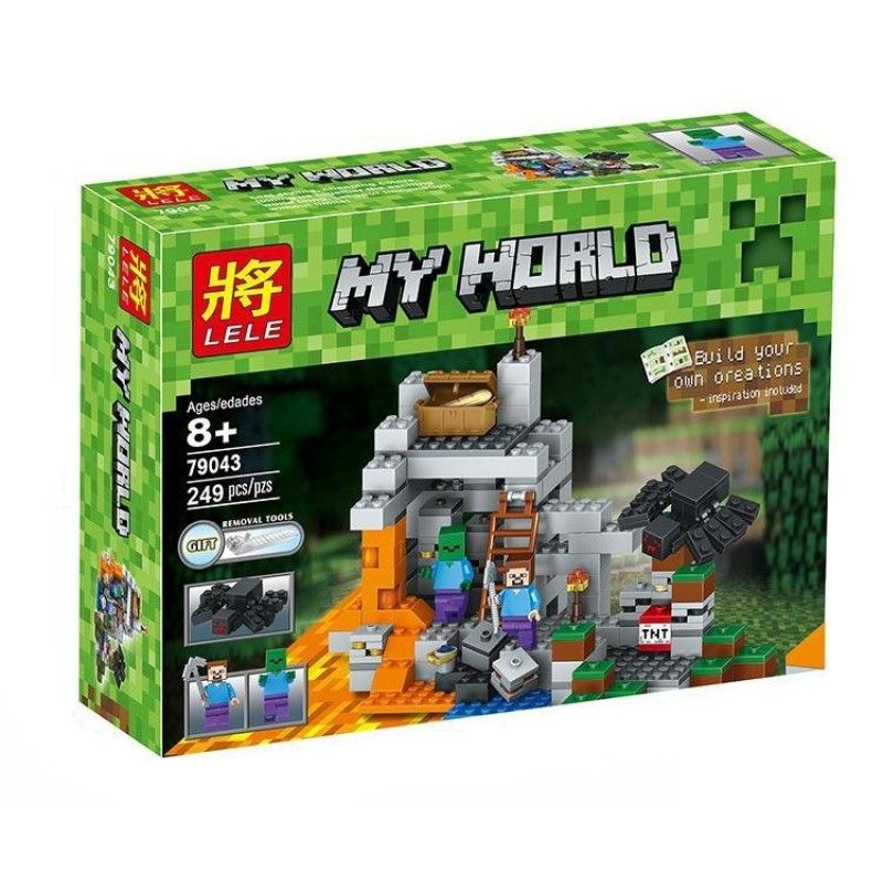 "Lele My World ""Пещера"" 249 деталей NO.79043 ( аналог lego minecraft 21113 )"