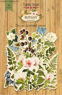 """Набор высечек, коллекция """"Botany summer"""" FD"""