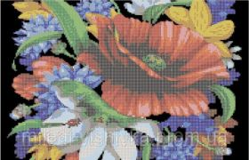 Букет Цветов. А3 (набор 1600 рублей) Миледи СЛ-3035