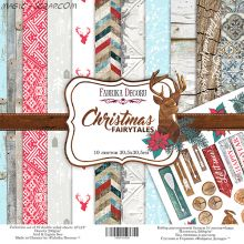 "Набор скрап бумаги ""Christmas fairytales"", 30,5x30,5 см FD"