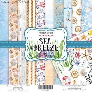 """Набор скрап бумаги """"Sea Breeze"""", 30,5x30,5 см FD"""