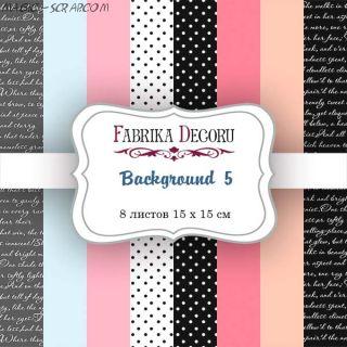 """Набор скрап бумаги """"Backgrounds 5"""", 15x15 см FD"""