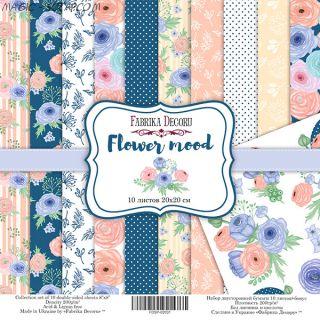 "Набор скрап бумаги ""Flower mood"", 20x20 см FD"