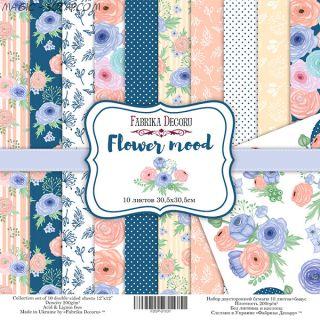 "Набор скрап бумаги ""Flower mood"", 30,5x30,5 см FD"