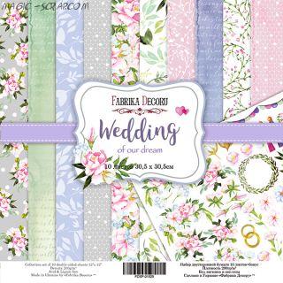 """Набор скрап бумаги """"Wedding of our dream"""", 30,5x30,5 см FD"""